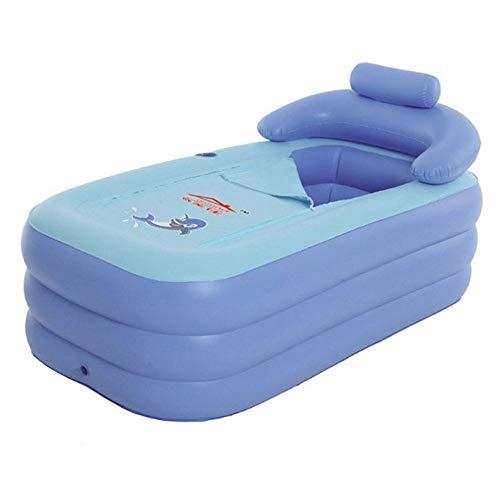 Pliage baignoire Baignoire gonflable taille adulte Portable Home Spa Baignoire confortable de qualité - Nouveau modèle plus forte fermeture à glissière (Couleur : A)