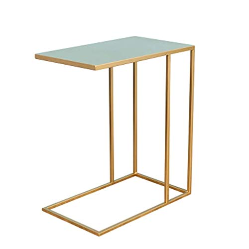 JIAHE115 Eenvoudige opklapbare tafel HJCA Table - Sofa Side Table Bedside Table Writing Desk Dressing Table Eettafel IJzeren Tafel Bijzettafel - Goud Outdoor camping bijkeukentafel