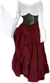 فستان شخصية للمرأة على الطراز الأوروبي والأمريكي عتيق العصور الوسطى للحفلات مأدبة كم كامل فستان أنيق