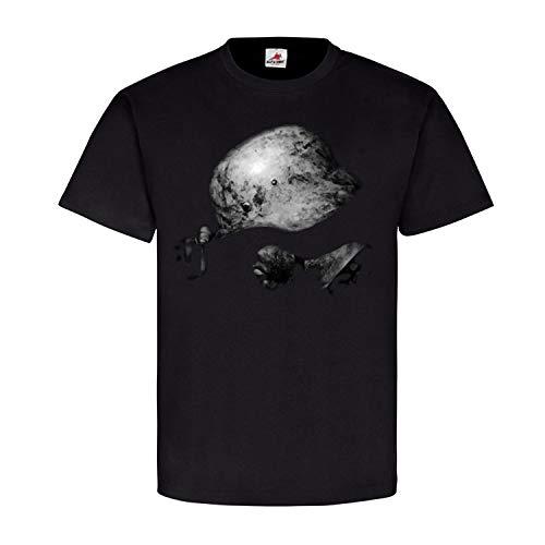 WW2 German Soldier Stahlhelm Winter Camo Deutscher Soldat Elite T Shirt #22740, Größe:XXL, Farbe:Schwarz