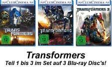 Transformers 1+2+3 im Set - Deutsche Originalware (3 Blu-rays)