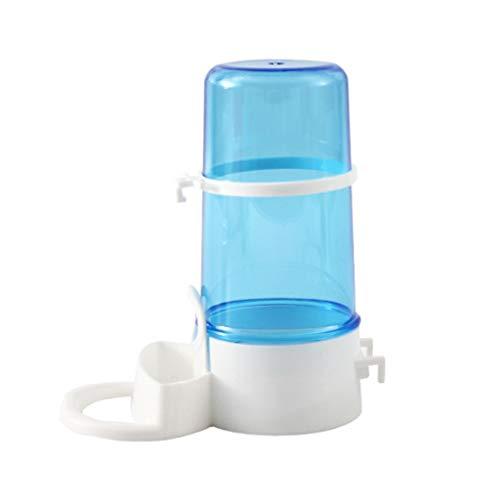 HDDFG Bebedero de Agua para pájaros, Bebedero con Clip, dispensador de Suministros para pájaros, Botella, Taza para Beber, Cuencos para Jaula de Loros para Mascotas (Color : Blue)