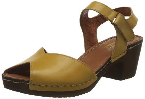 Manitu Damen 910998 Sandale mit Absatz, Gelb (Gelb 6), 35 EU