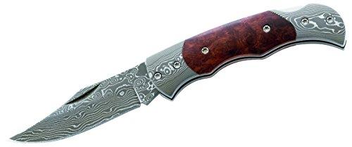 Herbertz Erwachsene Damaszener Taschenmesser Messer, Mehrfarbig, 14.2 cm