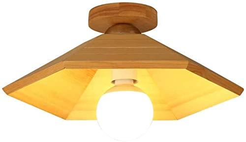 N\A ZGGYA Lámpara De Techo E27 40W 1-Llama Madera Moderno Nórdico Luz De Techo Simple Moda Decoración Cúpula Luz Luz ATIC Balcón Balcón Sótano Decoración De Interiores