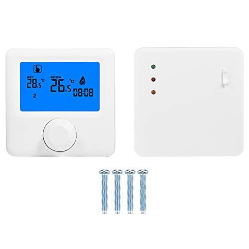 Controlador de temperatura inalámbrico digital Gran pantalla LCD Termostato programable Controlador de temperatura de alta precisión para caldera de pared