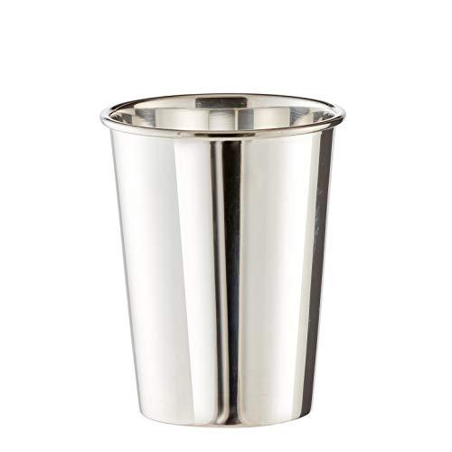 Brillibrum Design Becher Versilbert Metall Silber Gourmet Taufbecher Mit Wunschgravur Trinkbecher Stiftebecher Becher - Klein (Gravur bis 20 Zeichen)