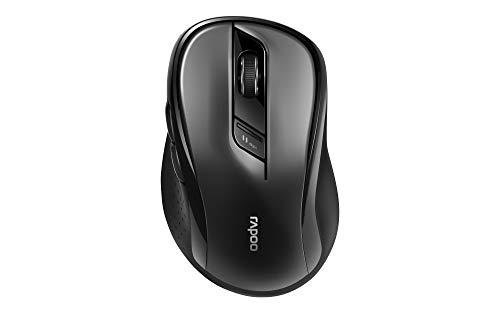 Rapoo M500 Silent kabellose Maus, Bluetooth und Wireless (2.4 GHz) via USB, Multi-Mode, leise Tasten, 1600 DPI, schwarz