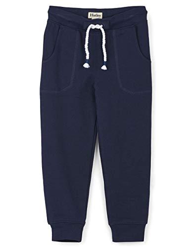 Hatley Slim Fit Jogger Pantalon de survtement, Bleu Marine, 2 Ans Fille
