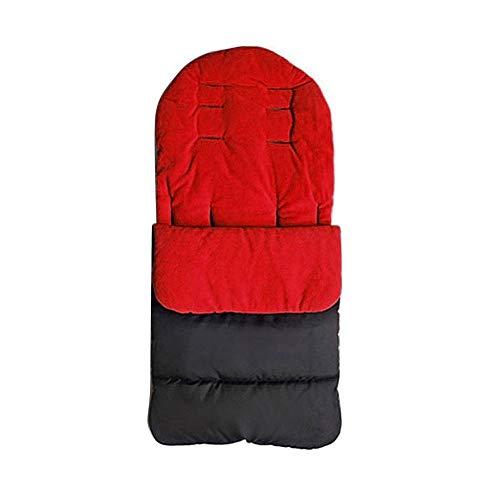 HEYB Saco de dormir universal para cochecito de bebé, accesorios para carrito de bebé, funda para cochecito de bebé, color rojo