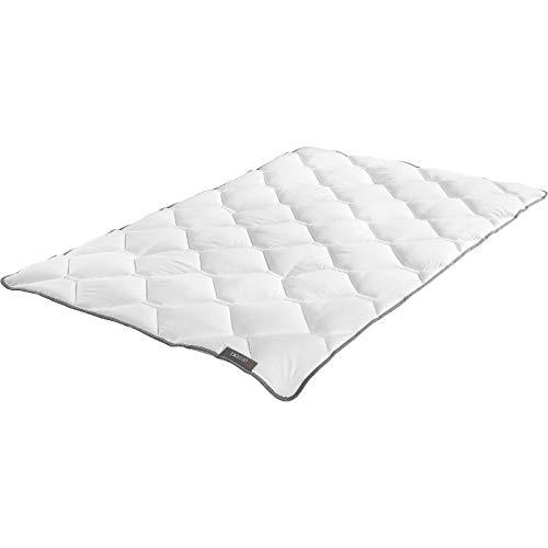 Badenia Bettcomfort Trendline Leicht Sommerdecke Steppbett Micro Kochfest, 135 x 200 cm, weiß