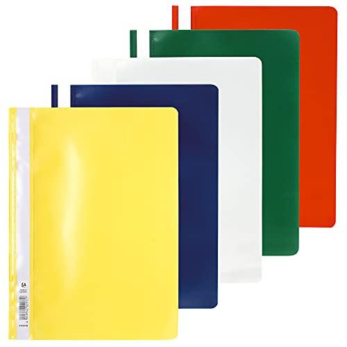 Exacompta 449225B - Lote de 25 subcarpetas PVC, A4, multicolor ✅
