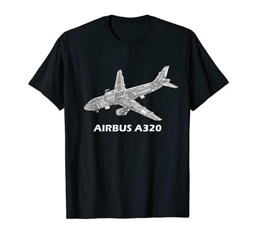 Airbus A320 jet airplane cutaway aviation pilot gift T-Shirt
