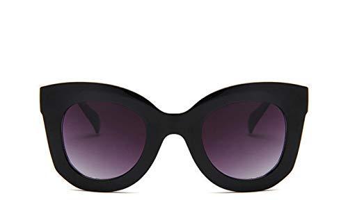 HAOMAO Diseñador de la Marca Retro Rectangle Cat Eye Gafas de Sol para Mujer Mujer Uv400 Eyewear C3