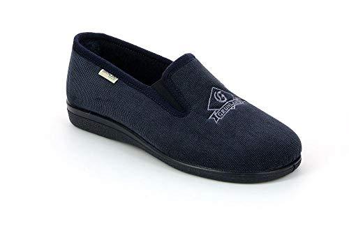 Grunland Ezio 0176 Blu Pantofola Uomo VELLTO (Numeric_44)