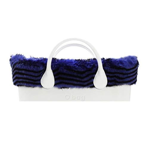 O bag Edge Eco Lapin Spigato Blu