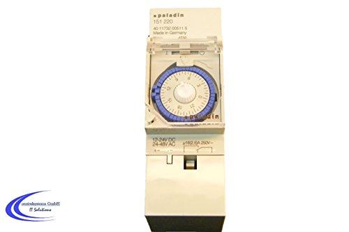 Analoge Zeitschaltuhr 12V 24V für Hutschienenmontage / Zählerschrank