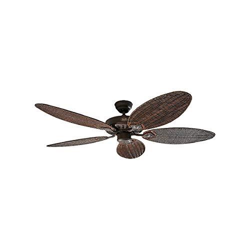 Ventilatore da soffitto Classic ROYAL 132 cm Marrone antico / ali rattan antico