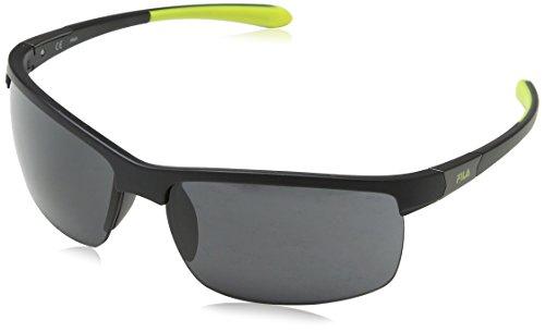 Fila Hombre N/A Gafas de sol, Negro (Semi-Matt Black), 69