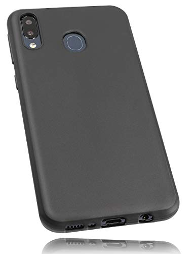 mumbi Hülle kompatibel mit Samsung Galaxy M20 Handy Hülle Handyhülle, schwarz