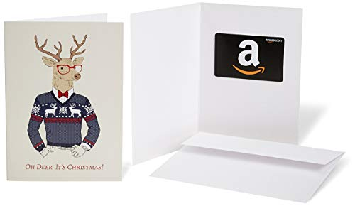 Amazon.com Gift Card in a Greeting Card - Christmas Deer Design