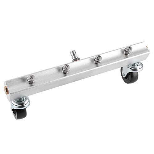 DERCLIVE 6,35 mm Edelstahl-Hochdruck-Unterboden-Reinigungswerkzeug, Silber