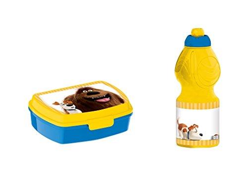 Mascotas, 0371, Sandwichera y botella de agua disney mascotas. Productos de plástico. No bpa. Set escolar