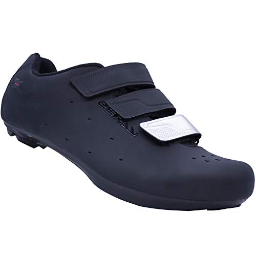 Cycling Shoes Bike Shoes Road Bike Shoes Cycling Shoes Three Holes Bicycle Shoes EY110 (Numeric_9_Point_5) Black