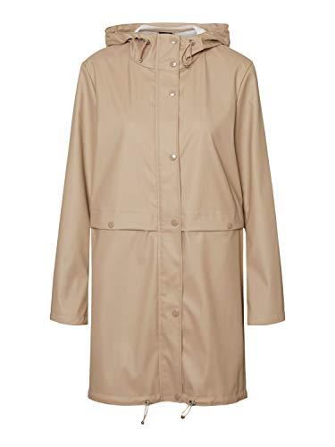 VERO MODA Damen VMEVERYDAY 3/4 Coated Jacket GA Regenjacke, Silver Mink, M