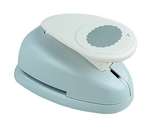 Rayher Hobby 8974400 Motivstanzer Oval, mit Zierrand, ø 5,08 cm- 2 Zoll, geeignet für Papier/Karton bis zu 200g/m²