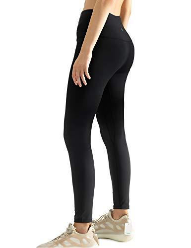 AJISAI Women's High Waist Workout Leggings Yoga Pants Tummy Control Running Pants Black XL