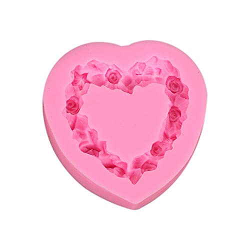 Valentine's Day Roses Flower Silicone Mold,Rose Fondant Mold,Rose Cake Mold,Baking Molds For Chocolate,Cupcake Toppers, Soap, Polymer Clay,Sugar Crafts(Multicolor)