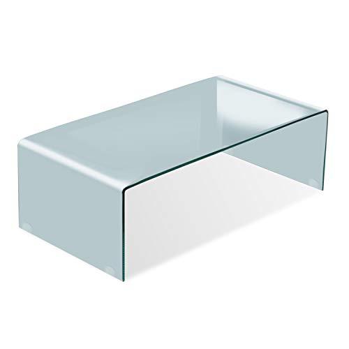 Adec - Glass, Mesa de Centro, mesita Comedor de Cristal, Medidas: 110 cm (Largo) x 55 cm (Ancho) x 35 cm (Alto)