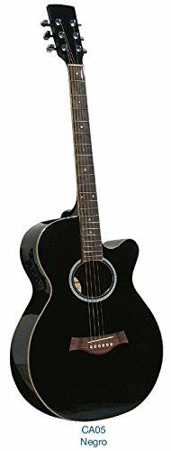 Guitarra acústica Academy CA05CE Negra: Amazon.es: Instrumentos ...