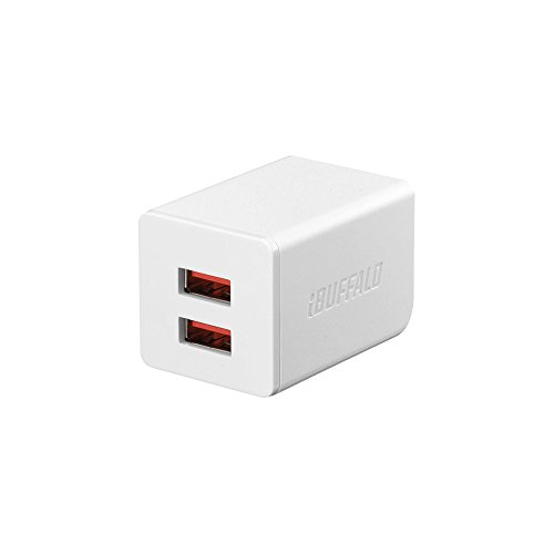 BUFFALO USB充電器 2.4A急速 USB×2 オートパワーセレクト搭載 ホワイト BSMPA2402P2WH (対応機種) iPhone7,...