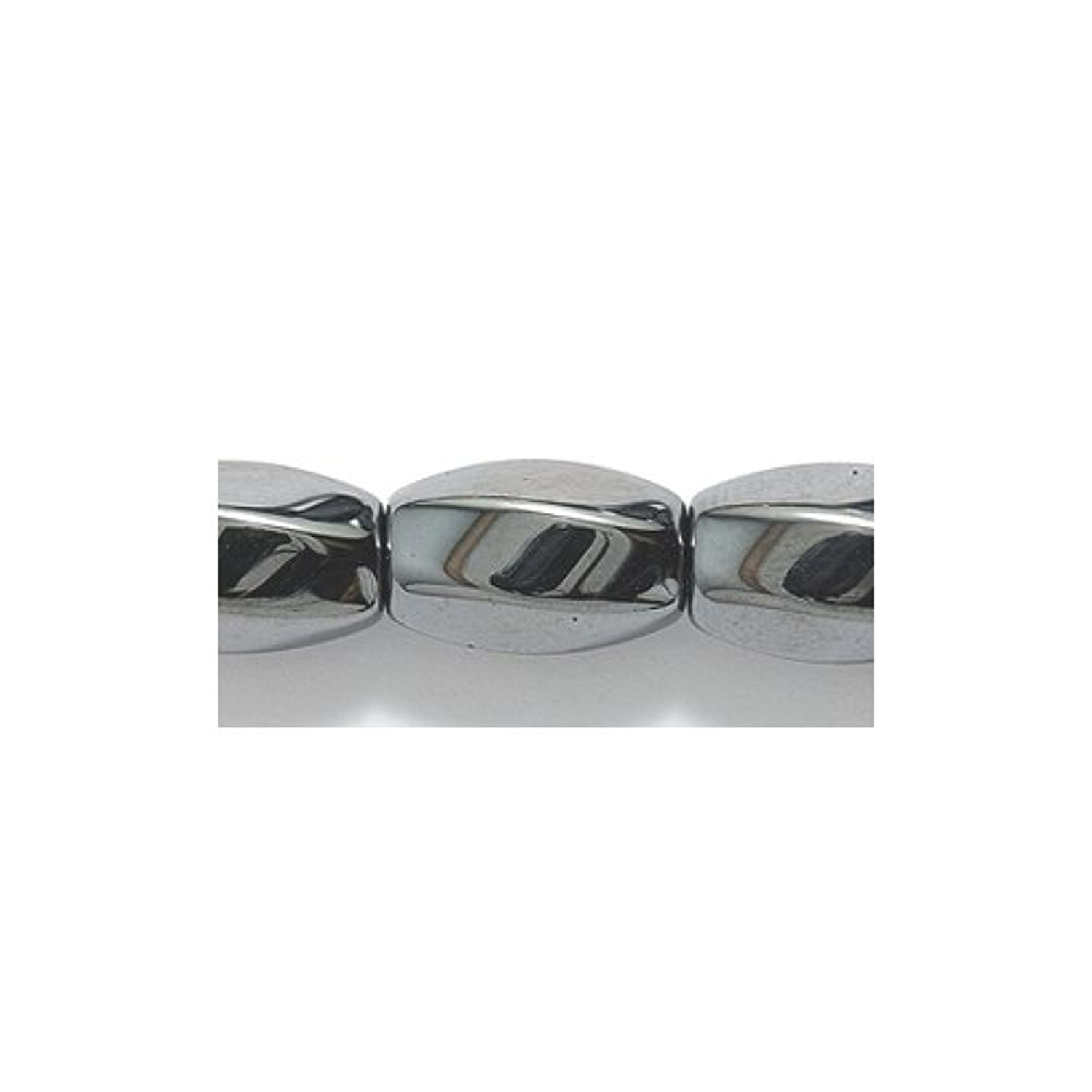 Shipwreck Beads Hematite Oval Bead, 6 Sided Twist 8 by 12-mm, 34-Piece Per Strand, 2-Strand/Pack tazlfy0508670