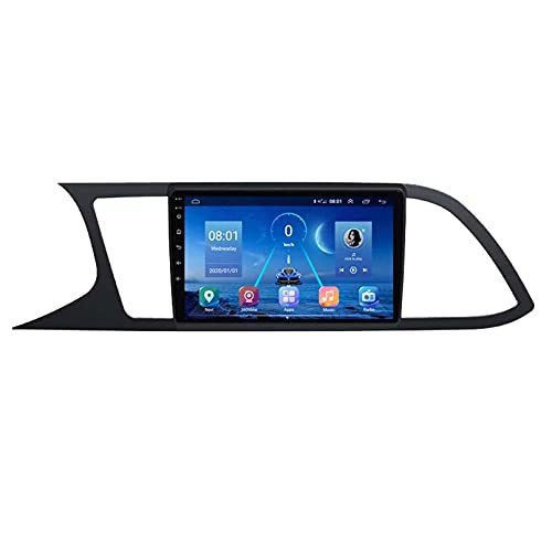 GOHHK 4G + 64G Android 9.0 Player Multimedia Player Auto Radio para Seat Leon 2013 2018 Navigation Carplay DSP GPS WiFi 4G 9'2 DIN DVD(Size:Cuatro nucleos,Color:WiFi:1GB+16GB)