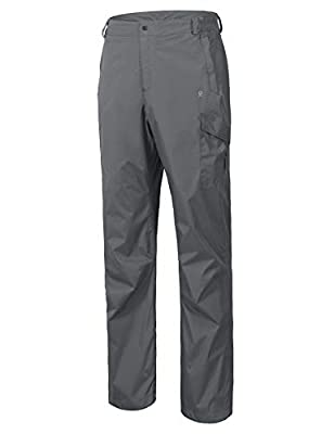 Little Donkey Andy Mens Hiking Pants Lightweight Waterproof Rain Pants Gray Size M