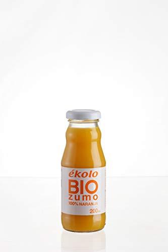 EKOLO Zumo De Naranja Ecológico, 100% Exprimido, 12 Botellas * 200Ml 2400 ml