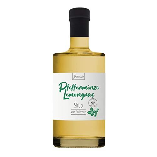 Pfefferminze-Lemongras Sirup 700ml - Genüssle Zitronengras Pfefferminz Sirup vom Bodensee - Sirup für heiße Tage zum eiskalt genießen