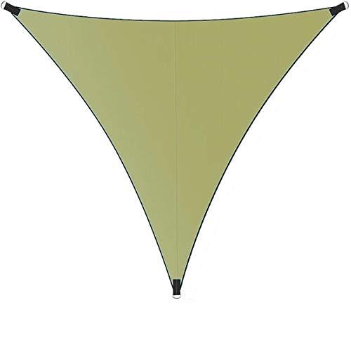 Toldo triángulo de 4 x 4 x 4 m, toldo impermeable con cuerda libre de protección solar para patio al aire libre, jardín, pérgola de césped (4 x 4 x 4 m, verde)