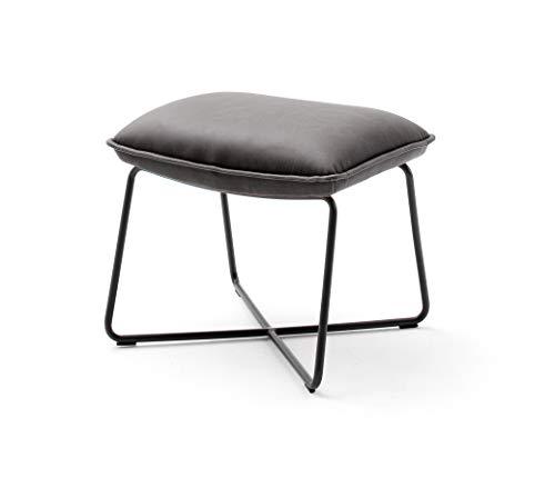 Robas Lund Lounge Hocker, Grau, BxHxT : 50x43x40 cm