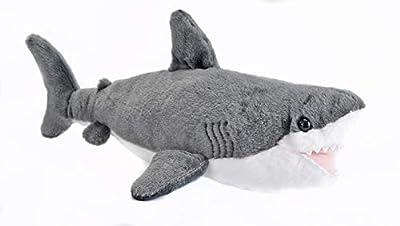 Wild Republic Great White Shark Plush, Stuffed Animal, Plush Toy, Gifts for Kids, Cuddlekins 13 inches from Wild Republic