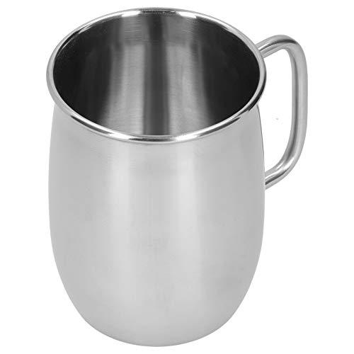 Edelstahl Bierkrug mit Thik Griff, 34 oz/1000ml Große Bier Stein Teetasse Kaffeetassen Trinkbecher für heiße oder kalte Getränke