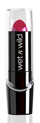 Wet n Wild – Silk Finish Lipstick- Pflegender Lippenstift mit Aloe Vera und Vitamine A und E, Fuchsia with Blue Pearl, 1 Stk. 3,6g