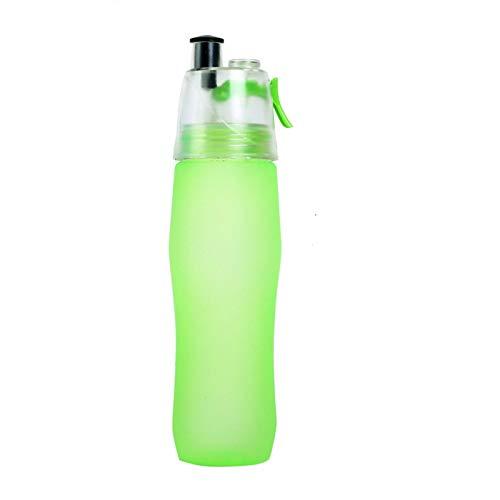 740ML Scrub Sports Water Bottle Portable Plastic Spray Bottle Leakproof Travel Cup (Green)