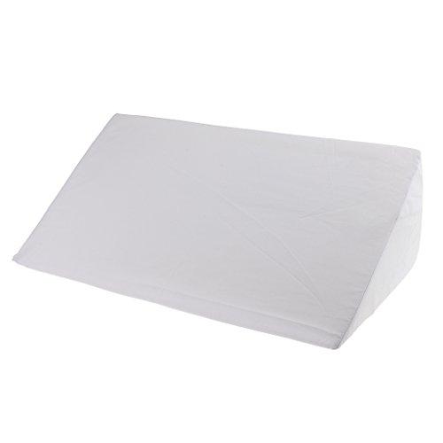 Gazechimp Cojín de Espuma de Cuña Almohadilla de Elevación para Piernas de Pie Soporte Cubierta Lavable - Blanco