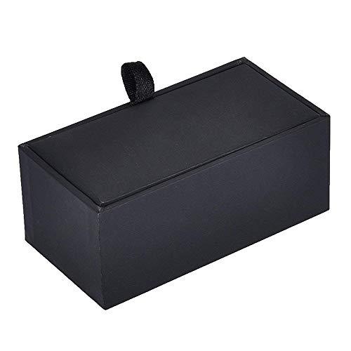 U/K Manschettenknopf-Box Manschettenknopf-Aufbewahrungsbox Manschettenknopf-Behälter Rechteckiger Manschettenknopf-Paketkasten Schwarz 1 STK. Langlebiger Service