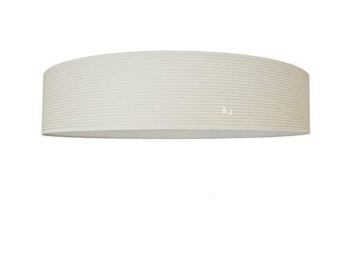 Deckenleuchte mit Lampenschirm Durchmesser 70 cm Stoff, Cremeweiß Wollweiß Beige Fassungen 3 x E27 und Diffuser Blendschutz