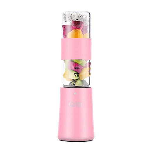 Automatische Mini draagbare blender Juice Machine, Juice Cup 260 ml, gemakkelijk schoon te maken, vrije bpa, Dual Configuration Cup, voor sap, Shakes en Smoothies voor gezond leven,Pink